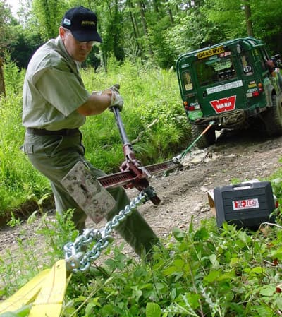Learn how to use a hi-lift-hack for winching on your homestead