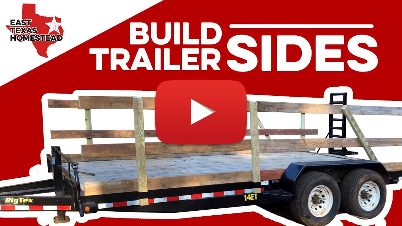 Video thumbnail for DIY Homesteading Videos | How to Build Wood Sides for Utility Trailer | #EastTexasHomestead