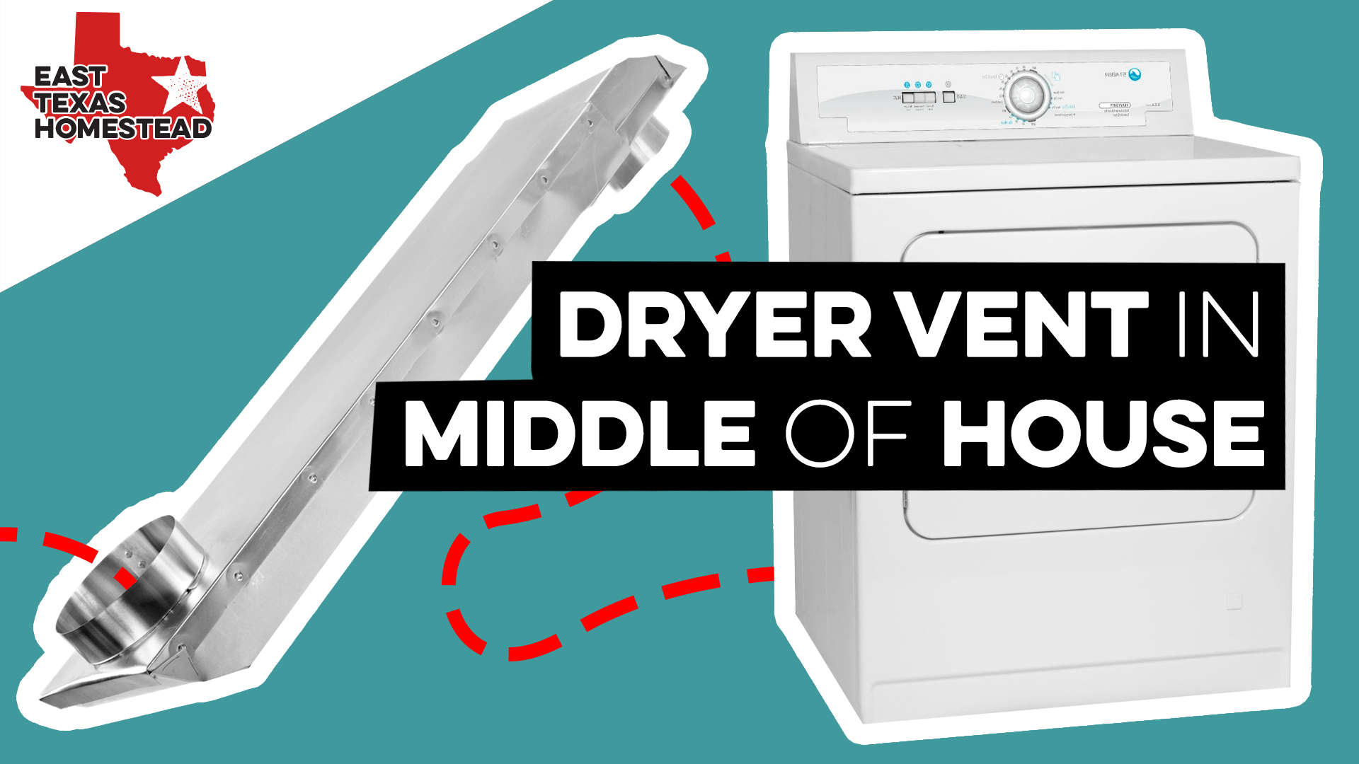 Poster image for Installing Dryer Vent in Middle of House video