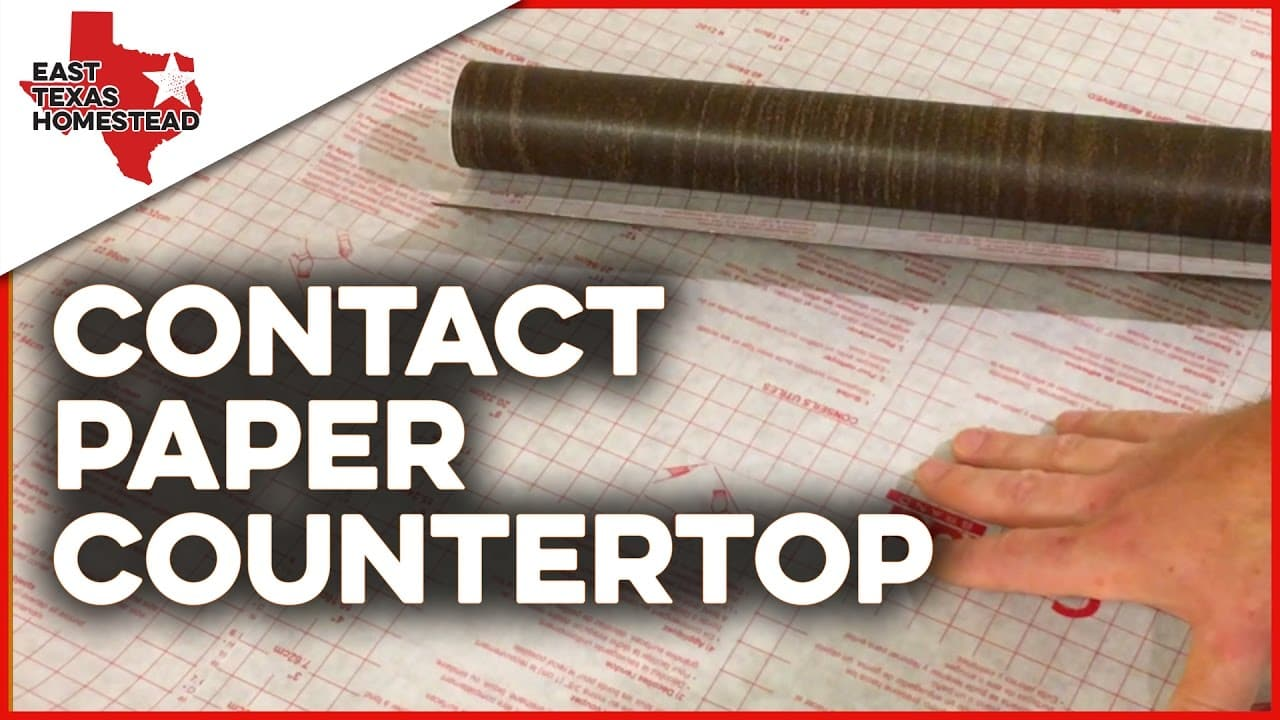 How to make contact paper countertops on a budget